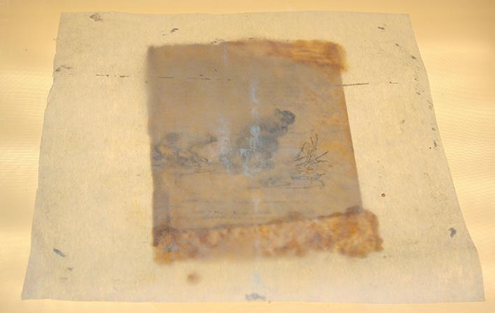 Доливка утрат листа бумажной массой