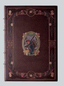 Передняя крышка переплета книги: J.K.Huysmans «Sac au dos» (Paris, 1913). Мастер переплета Г.Левицкий