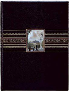 Передняя крышка переплета книги: Ernest Renan «Priere sur l'Acropole» (n.p., n.b.). Мастер переплета Г.Левицкий