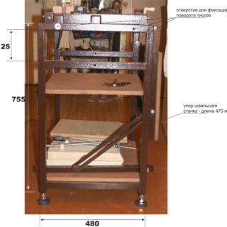 prof size 320x320 - Многофункциональный переплетный станок (схемы)