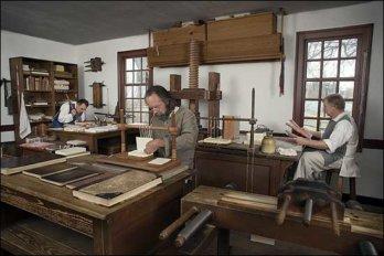 """Переплетная мастерская """"Colonial Williamsburg"""""""