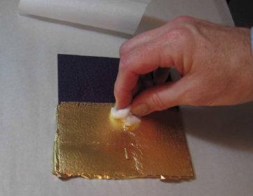 Стыковка золотых листов
