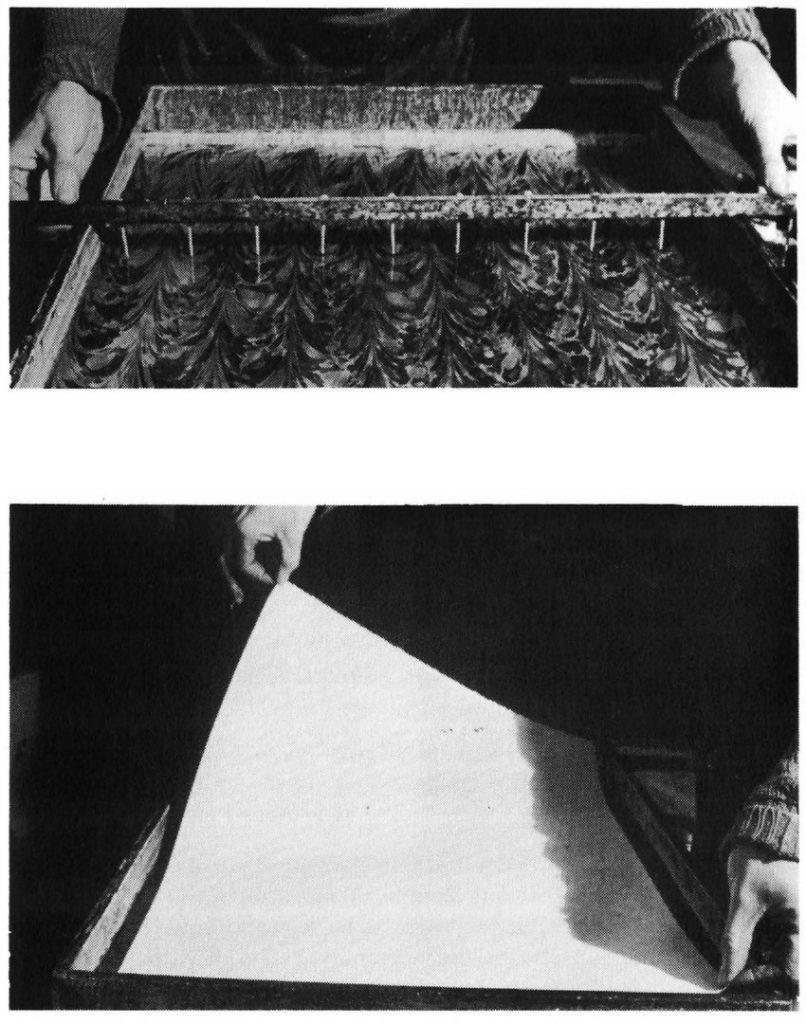 Турецкий способ мраморирования бумаги