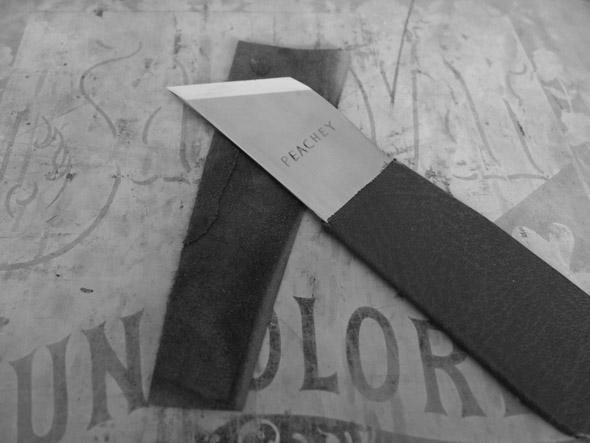 Английский шерфовальный нож