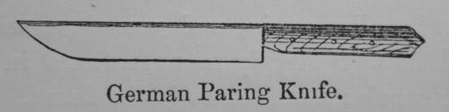 Немецкий шерфовальный нож