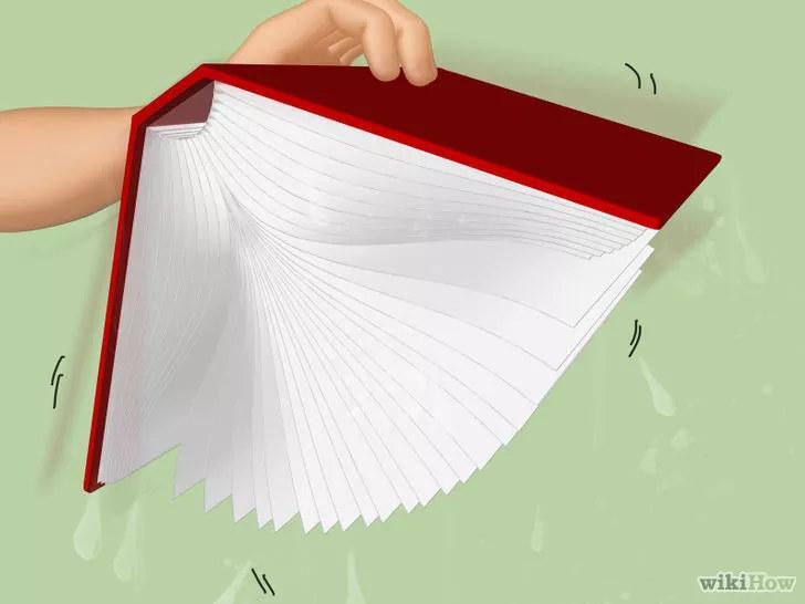Сушка мокрой книги